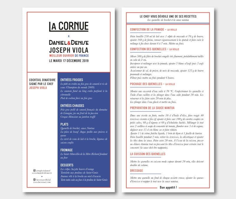 Menus La Cornue
